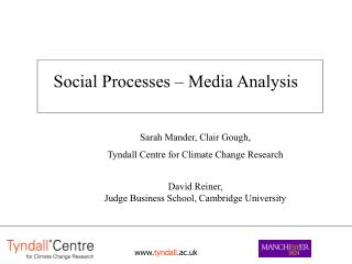 Social Processes – Media Analysis