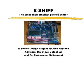 E-SNIFF The embedded ethernet packet sniffer