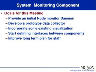System  Monitoring Component