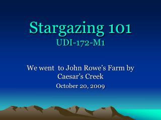 Stargazing 101 UDI-172-M1