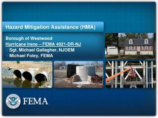 Hazard Mitigation Assistance (HMA)
