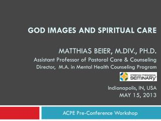 ACPE Pre-Conference Workshop