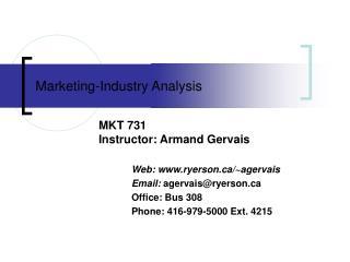 Marketing-Industry Analysis