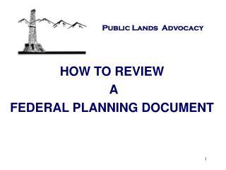 Public Lands  Advocacy