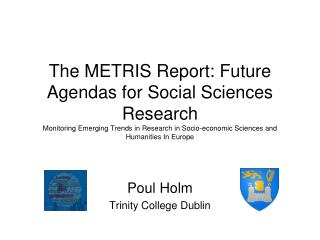 Poul Holm Trinity College Dublin