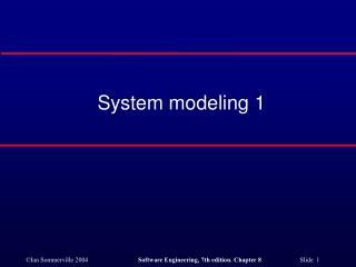 System modeling 1