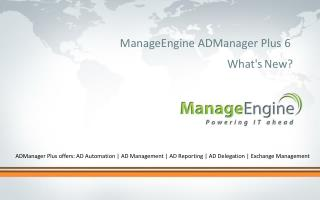 ManageEngine ADManager Plus 6