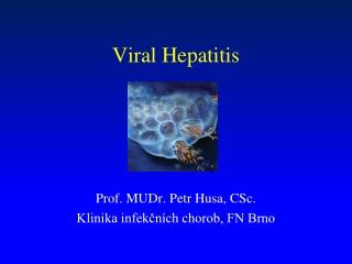 Update on Viral Hepatitis