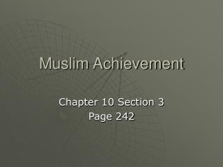 Muslim Achievement