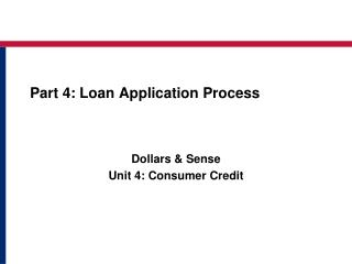 Part 4: Loan Application Process