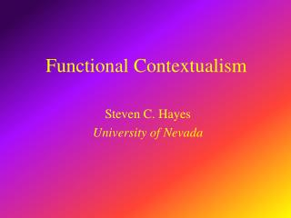 Functional Contextualism
