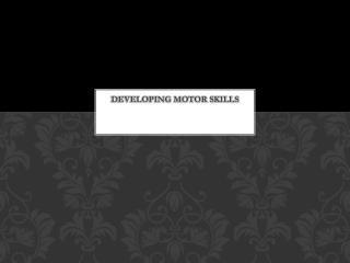 Developing Motor Skills