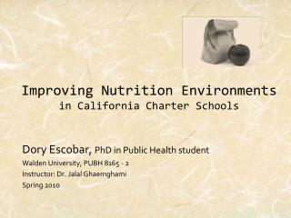 Improving Nutrition Environments in California Charter Schools