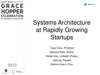 Systems Architecture at Rapidly Growing Startups