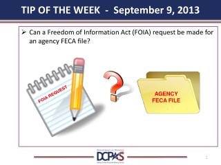 TIP OF THE WEEK  -  September 9, 2013