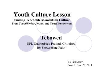 Tebowed NFL Quarterback Praised, Criticized for Showcasing Faith