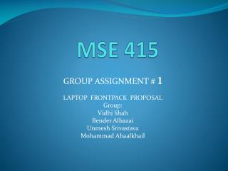 MSE 415