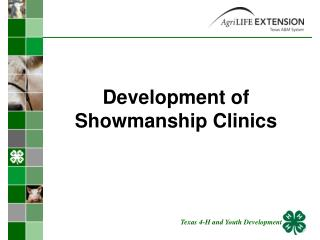 Development of Showmanship Clinics