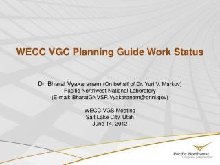 WECC VGC Planning Guide Work Status