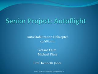 Senior Project:  Autoflight