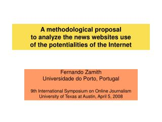 A methodological proposal to analyze the news websites use of the potentialities of the Internet