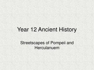 Year 12 Ancient History