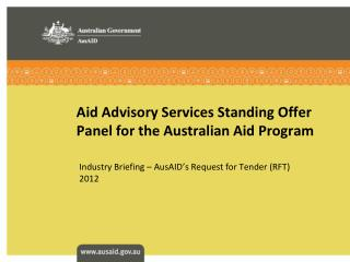 Aid Advisory Services Standing Offer Panel for the Australian Aid Program