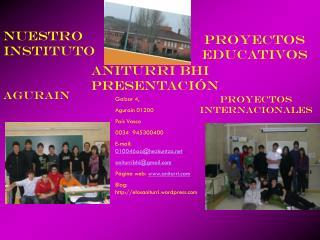 ANITURRI BHI    presentación