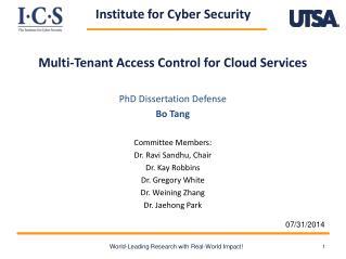 Multi- Tenan t  Access Control for Cloud  Services