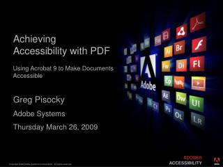 Achieving Accessibility with PDF