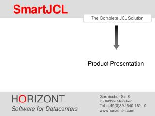 The Complete JCL Solution