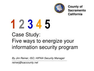 Case Study:  Five ways to energize your information security program