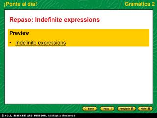 Repaso: Indefinite expressions