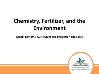 Chemistry, Fertilizer, and the Environment