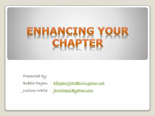 Enhancing Your Chapter