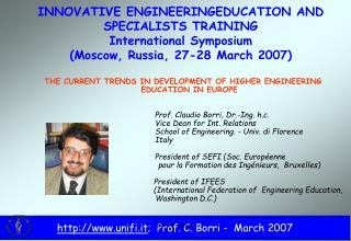 THE CURRENT TRENDS IN DEVELOPMENT OF HIGHER ENGINEERING EDUCATION IN EUROPE