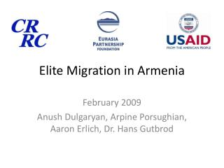 Elite Migration in Armenia