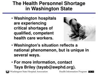 The Health Personnel Shortage  in Washington State