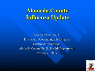 Alameda County  Influenza Update