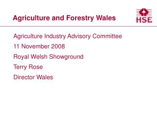 Agriculture and Forestry Wales