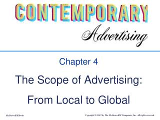 Chapter 4 The Scope of Advertising: From Local to Global