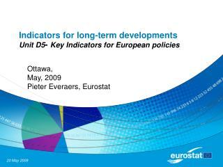 Indicators for long-term developments Unit D5 -  Key Indicators for European policies