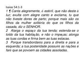 Isaias 54:1-3