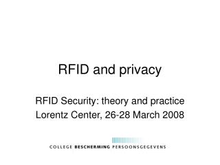 RFID and privacy
