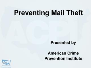 Preventing Mail Theft