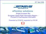 Single European Sky European Upper-Flight Information Region    Provision of Aeronautical Information