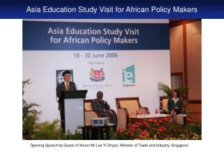 Asia Education Study Visit for African Policy Makers