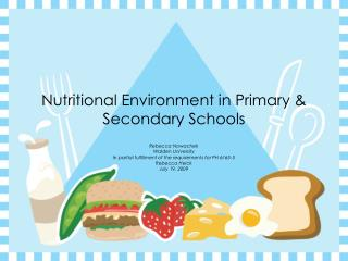 Nutritional Environment in Primary & Secondary Schools