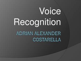 Adrian Alexander Costarella