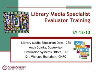 Library Media Specialist  Evaluator Training SY 12-13